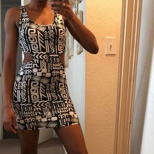 Tribal bodycon dress with cut out
